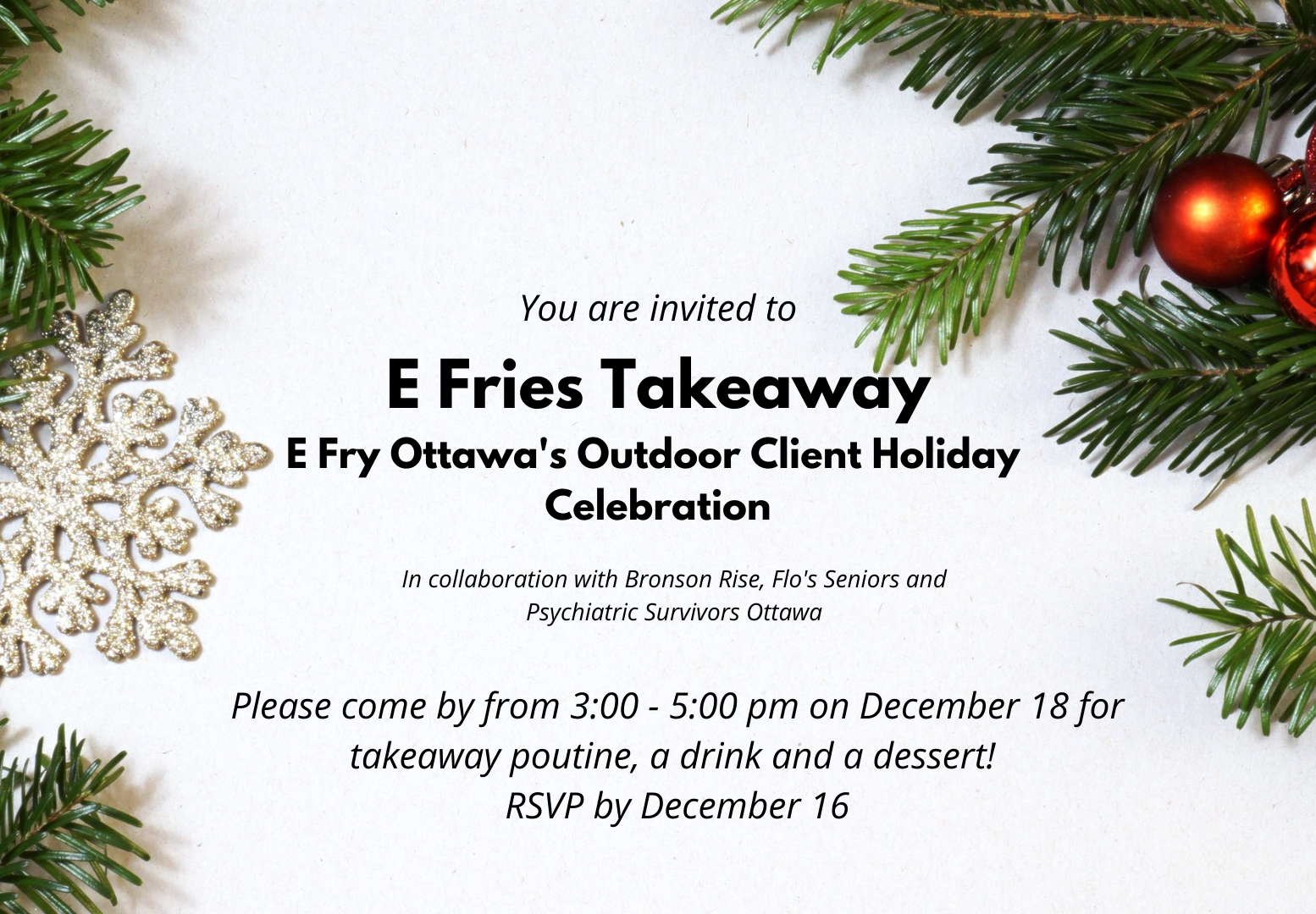 E Fries Takeaway Client Holiday Celebration new